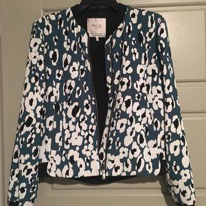 Zara Trafaluc Animal Print Bomber Jacket